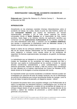 investigación y análisis del accidente e incidente de trabajo