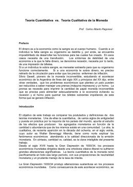 TEORIA CUANTITATIVA VS - Fundación Buenos Aires XXI