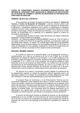 PLIEGO DE CLÁUSULAS ECONÓMICO ADMINISTRATIVAS QUE