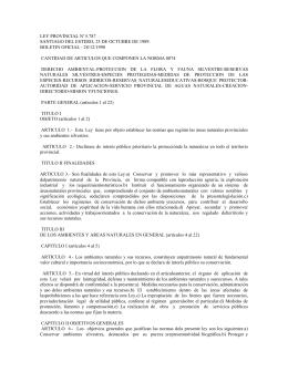 Ley Provincial 5787 - Facultad de Ciencias Forestales