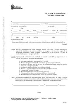 solicitud persona física agente vinculado