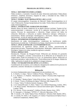 programa de óptica fisica - Universidad Complutense de Madrid