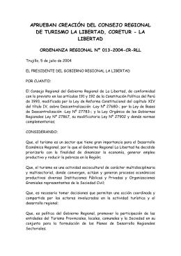 Aprueban creación del Consejo Regional de Turismo La Libertad
