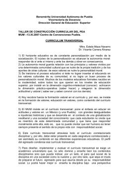 Benemérita Universidad Autónoma de Puebla Vicerrectoría de Docencia