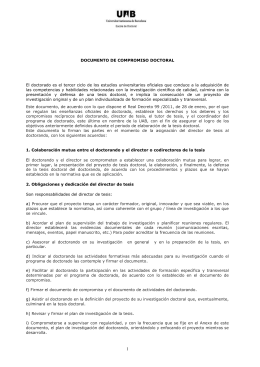 Documento de compromiso