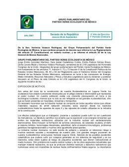Proyecto de decreto que reforma la Ley Reglamentaria del artículo