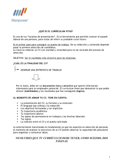 Manual para CV y entrevista laboral- Manpower