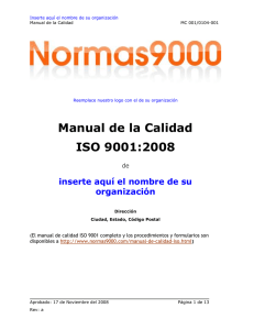 Paginas del Manual de Calidad