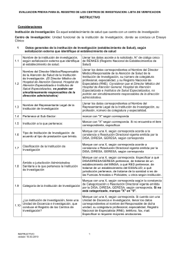 Lista de Verificación Instructivo
