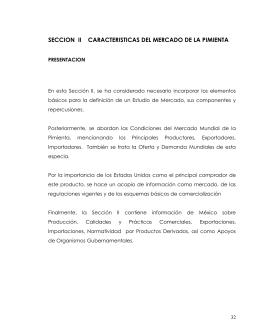 SECCION  II    CARACTERISTICAS DEL MERCADO DE...