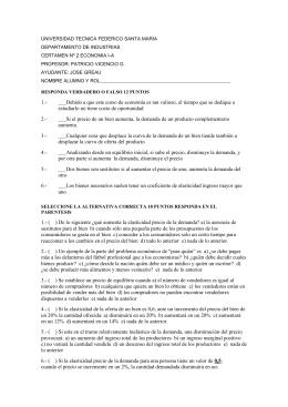 UNIVERSIDAD TECNICA FEDERICO SANTA MARIA DEPARTAMENTO DE INDUSTRIAS PROFESOR: PATRICIO VICENCIO G.