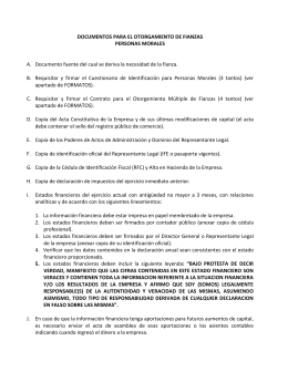 Requisitos Personas Morales
