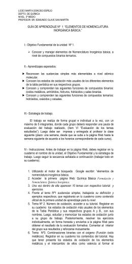 Guía de trabajo - Liceo Marta Donoso Espejo