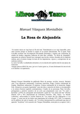 Manuel Vázquez Montalbán La Rosa de Alejandría