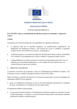 1. Objetivos y descripción - Europa Creativa Desk