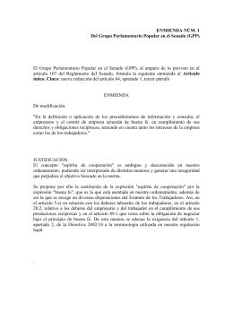ENMIENDA NÚM. 1 Del Grupo Parlamentario Popular en el Senado (GPP)