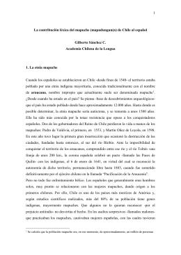 La contribución léxica del mapuche