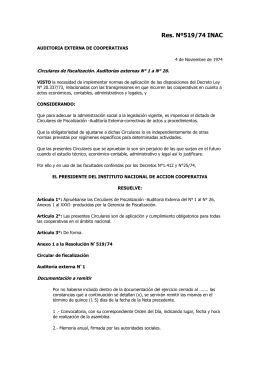 Res. Nº519/74 INAC
