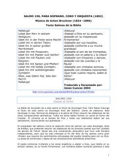 SALMO 150, PARA SOPRANO, CORO Y ORQUESTA (1892)