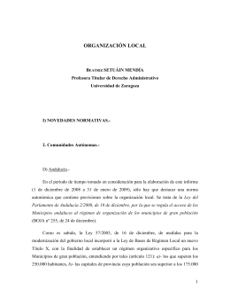 informe sobre organización local