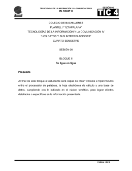 "BLOQUE II COLEGIO DE BACHILLERES PLANTEL 7 ""IZTAPALAPA"""