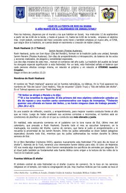 LOS TOQUES DEL SHOFAR(cuerno de carnero)