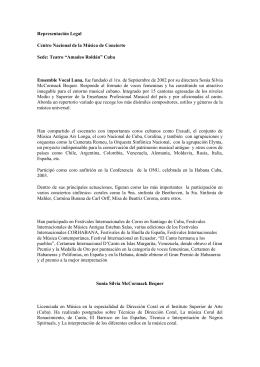 Representación Legal Centro Nacional de la Música de Concierto