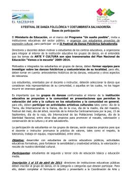 II FESTIVAL DE DANZA FOLCLÓRICA Y COSTUMBRISTA