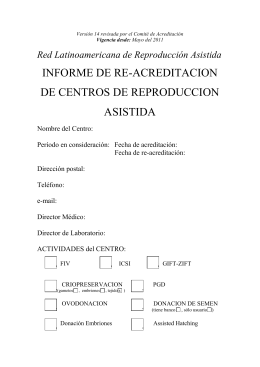 Informe de Re-acreditación - REDLARA