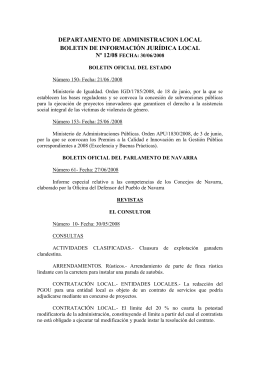 DEPARTAMENTO DE ADMINISTRACION LOCAL BOLETIN DE INFORMACIÓN JURÍDICA LOCAL Nº 12/08