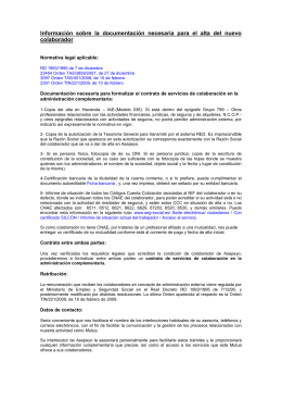 Documentación necesaria y requisitos legales