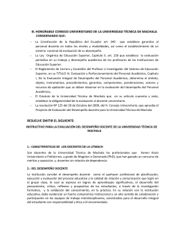 EL HONORABLE CONSEJO UNIVERSITARIO DE LA UNIVERSIDAD TÉCNICA DE MACHALA