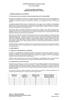 CAPITULO TERCERO: ORGANOS DE