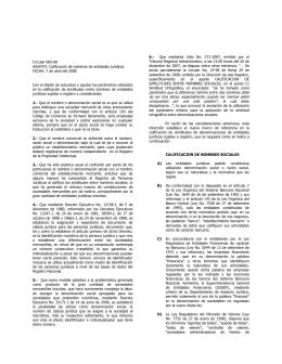 6.- Tribunal Registral Administrativo, a las 13:00 horas del 20 de