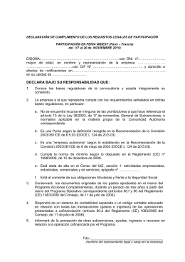 Anexo I requisitos