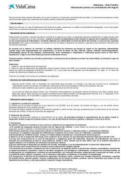 Información sobre el seguro