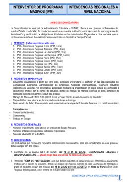 INTERVENTOR DE PROGRAMAS MASIVOS (IPM)