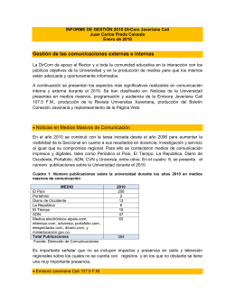 3Informe_Gestion_Dir.. - Pontificia Universidad Javeriana, Cali