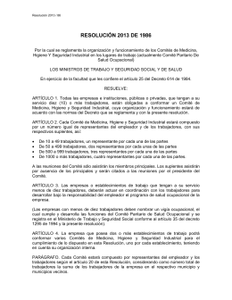 Resolución 2013 de 1986