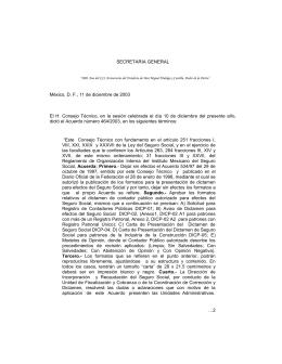 secretaria general - Colegio de Contadores Públicos de México