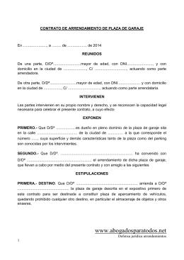 Contrato de arrendamiento para uso distinto de vivienda - Simulador gastos compra plaza garaje ...