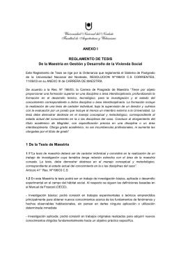 Reglamento de tesis - Universidad Nacional del Nordeste
