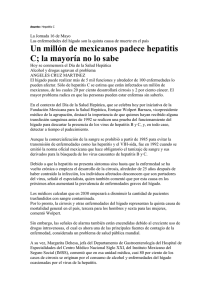 Asunto: Hepatitis C