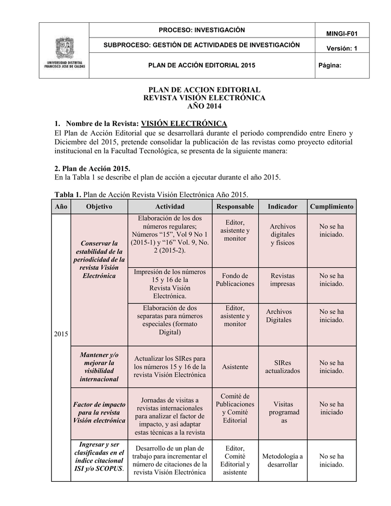 Microsoft Word - 0 - Plan de Accion Editorial Tecnura 2013