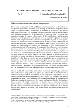 DATOS Y COMENTARIOS DE COYUNTURA COLOMBIANA