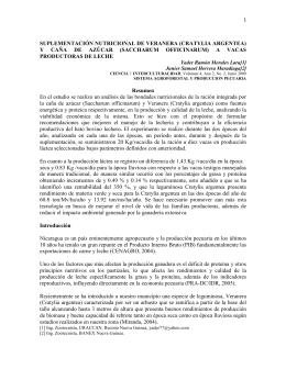 1 SUPLEMENTACIÓN NUTRICIONAL DE VERANERA (CRATYLIA