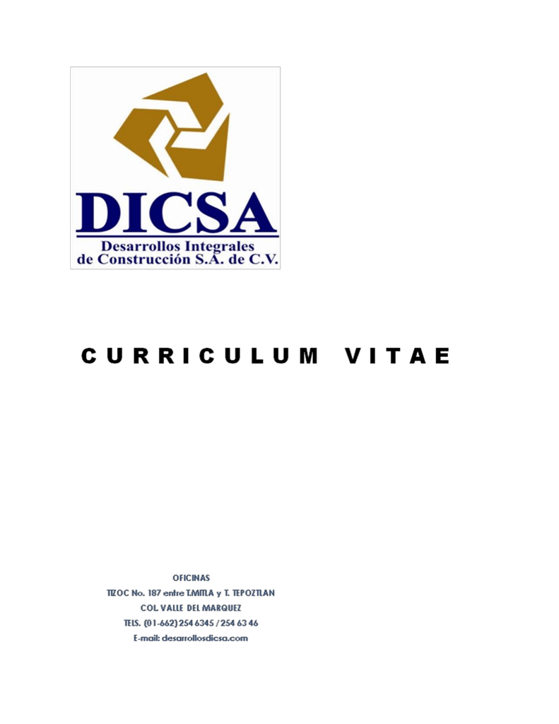 Haga click aqui para descargar nuestro Curriculum Vitae.