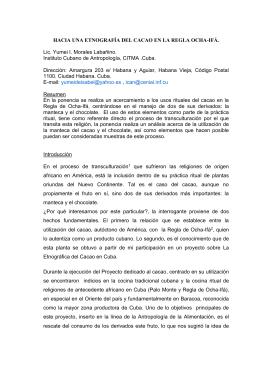 """""""El uso del cacao en la Regla de Ocha"""
