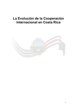 La evolución de la Cooperación Internacional en Costa Rica