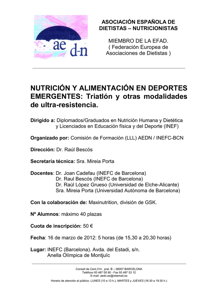 asociacion de dietistas nutricionistas española